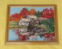 Framed Needlepoint Picture - Old Watermill / Autumn Leaves City of Montréal Greater Montréal Preview