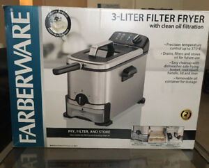Brand New Farberware 3-Liter Fryer  With Clean Oil Filtration