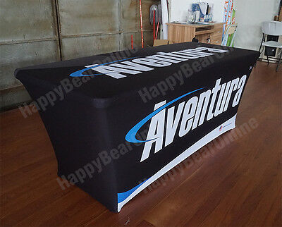 Trade Show Tension Stretching Table Cover Table Cloth 6ft Full Sized Printing