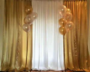 Backdrop Stand Rentals - $25 | Drapes/Curtains- $7 each