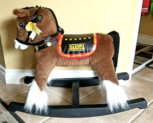Brown Singing Rocking Horse