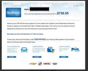 GM Points - Transfer-Save $500 (GMC, Buick, Cadillac, Chevrolet)
