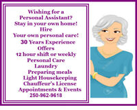 Need a caring personal assistant for your loved one?