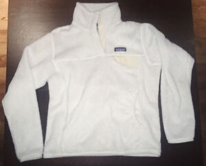 Patagonia white fuzzy sweater / pullover