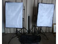 Full Studio Kit. Stands - Lightboxes - Backdrops and more