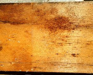 Vintage Pine Plank Flooring from 1820 Log Cabin