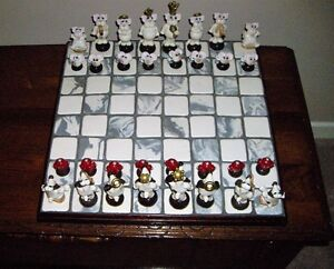 Cats and Dogs Chess Set