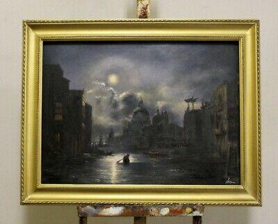 lde Ölgemälde Städte Handarbeit Venedig Mit Rahmen G95794 (Religiöses Kunsthandwerk)