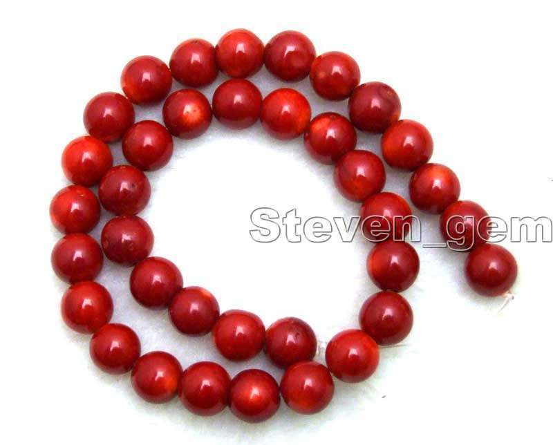"""12-13mm Round Natural Red Coral Loose Beads for Jewelry Making DIY Strands 15"""""""