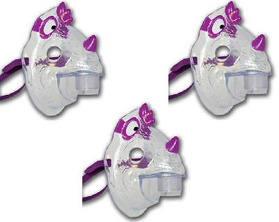 Nic the Dragon Pediatric Aerosol Mask for Child's Nebulizer - Lot of 3