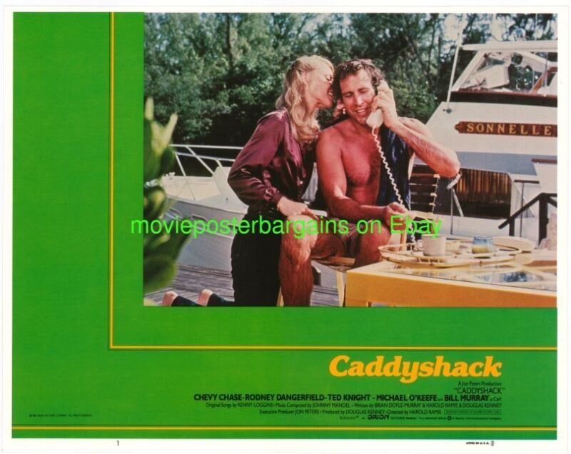 CADDYSHACK LOBBY CARD size MOVIE POSTER 7 Cards INTERNATIONAL VER.  CHEVY CHASE