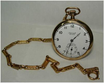 1917 Ingersoll Reliance Open Face Pocket Watch Runs Great!