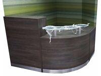 Reception Desk in Wenge Zebrano