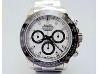 Rolex Daytona 116506 Stainless Steel White Dial Black Ceramic Bezel