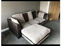 Beige & brown corner sofa good condition can deliver