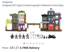Imaginext DC - Crime Alley with Batman, Joker, Harley Quinn, Bane & Penguin (RRP £62)