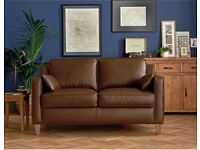 Brown leather sofas (2 and 3 seaters)