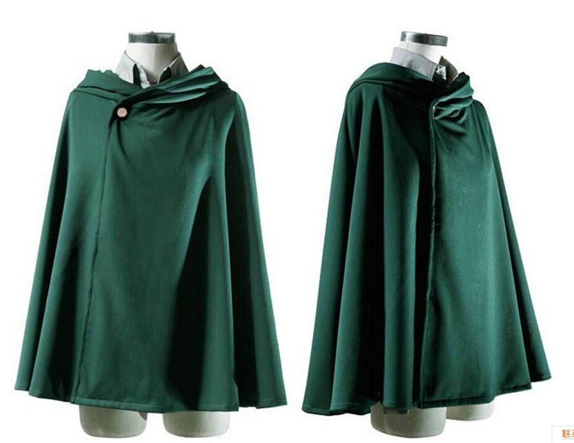 NEW! USA Cosplay Attack on Titan Anime Shingeki no Kyojin Cloak Cape Cloth