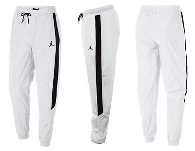 Nike Air Jordan Track Windbreaker Pants White Black AQ2686-100 Nylon size M ***