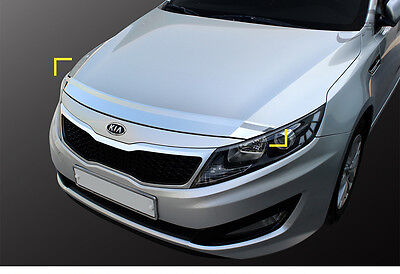 New Chrome Bonnet Hood Guard Deflector Molding K894 for Kia Optima 11 - 15