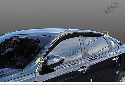 New Smoke Window Vent Rain Sun Visors Guard Molding for Kia Optima 2016