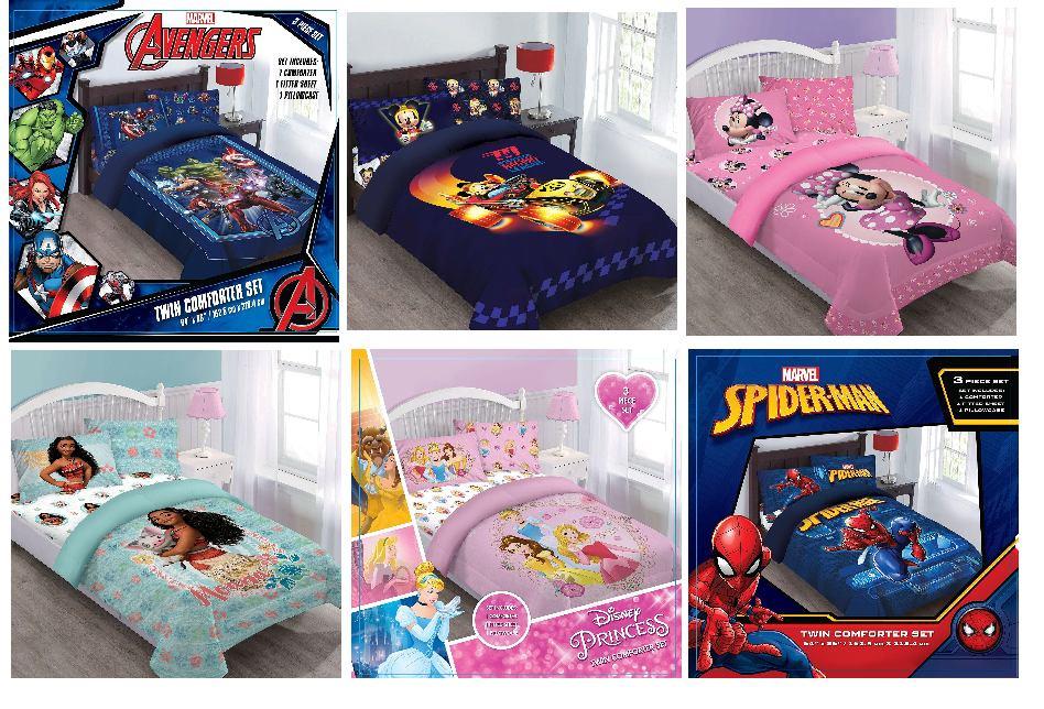 Disney Marvel Collection Comforter+Fitted Sheet+Pillow Case