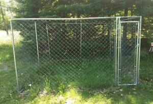 Cages and dog run