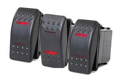 Red Rocker Switch - # 3 PCS MARINE BOAT TRAILER ROCKER SWITCH ON-OFF-ON SPDT 4 PIN 2 RED LED RV