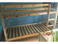 Solid wood bunkbed in vgc can deliver 07808222995