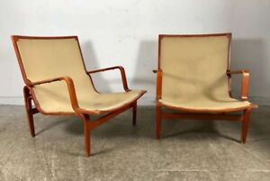 Pair Bruno mathssons for selig   Signed loungers