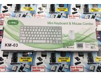 Wireless Mini keyboard and Mouse for iMac MacBook Pc Desktop Colour White