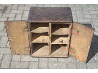 Very unusual handmade antique wooden cabinet circa 1910-20s
