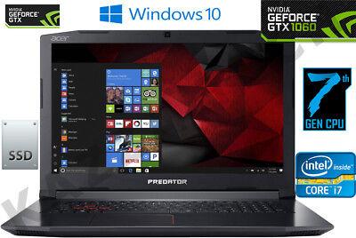 "Acer Predator Helios 300 15.6"" FHD Intel Core i7-7700HQ 16GB 256GB+1TB GTX 1060"