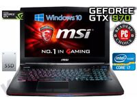 msi gaming laptop swop for best gaming pc tower