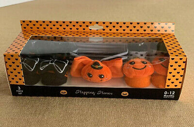 Halloween Stepping Stones (Stepping Stones Girl's Halloween Headwrap Headband Socks 0-12 Months)