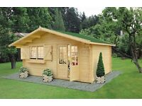 High quality 4,5 x 4 m Log Cabin