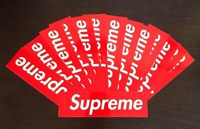 Supreme Box Logo Sticker Classic Red 100% Authentic Bogo