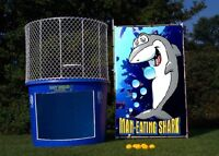 Rent our DUNK TANK Booth or Fire Brigade Bucket Drop BBQ Party