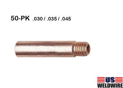 Mig Welding Gun Contact Tip 50-pk For Tweco 2 Lincoln 200 - 400a .030 .035 045