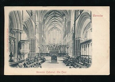 Worcestershire WORCESTER Cathedral Choir 1904 u/b PPC Stengel 19511