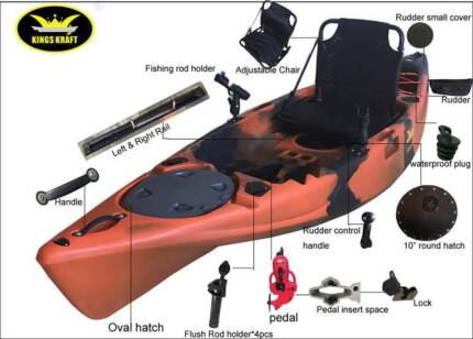 Crazy Pedal Kayak SALE $1199 +Trolley+Shade+Racks+PDF+Paddle+Rope Albion Park Shellharbour Area Preview