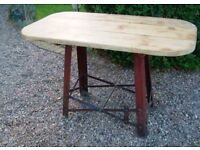 Kitchen farmhouse dining table shabby chic mid century re-purposed industrial
