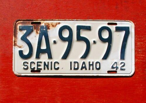 1942 Idaho Original Unissued SCENIC 3A-95-97 License Plate