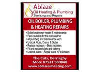 PLUMBER WITH MANY YEARS EXPERIENCE, BOILER BREAKDOWN, PLUMBING AND HEATING, OIL HEATING