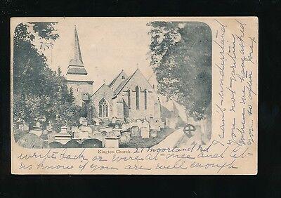 Herefordshire KINGTON Church 1903 u/b PPC