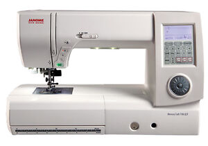 Janome New Home Memory Craft 7700QCP Longest Free Arm Sewing & Quilting Machine