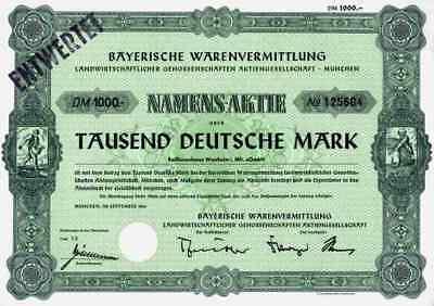 BayWa München AG 1966 Westheim Landhandel Tankstellen 1000 DM Dresden Dortmund