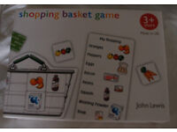 Brand New: John Lewis shopping basket game, like Orchard Toys