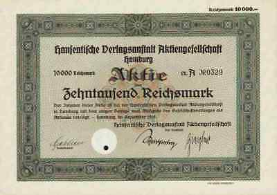 Hanseatische Verlagsanstalt 1935 Hamburg Bücherborn Buchhaus Berlin Wien 10.000