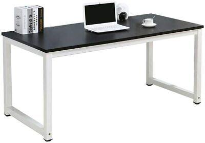 Black Wood Computer Table Study Desk Office Furniture PC Laptop Workstation Home